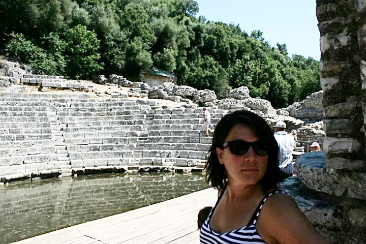 Erin in Butrint, UNESCO world heritage site in Albania