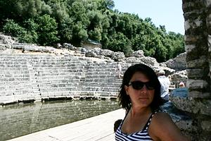Erin in Butrint, UNESCO world heritage site in Albania