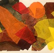 Abstraction Orange & Jaune