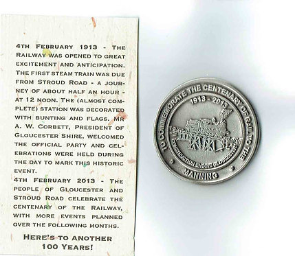 Medallion - 100 years Rail Commemorative