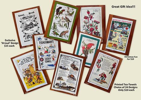 Tea Towels - Australian Flowers, Birds & Fauna