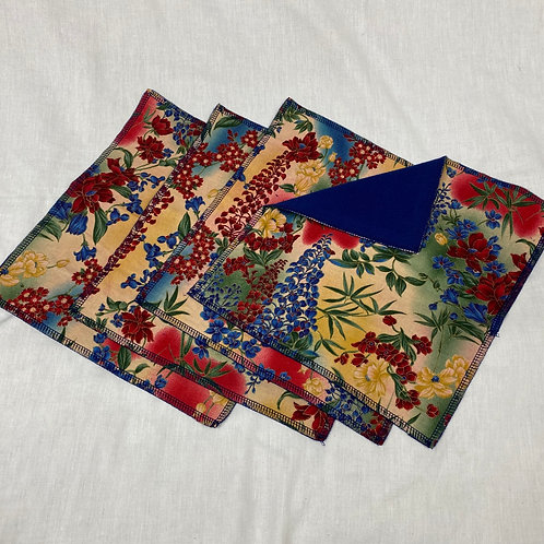 Bright and Beautiful (on Navy) Unpaper Towels (4)