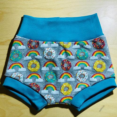 18 Months Bummies Shorts -Rainbow Donuts