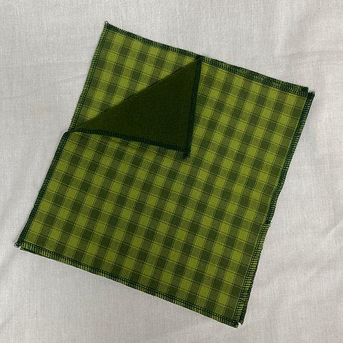 Bright Green Check Unpaper Towels (2)
