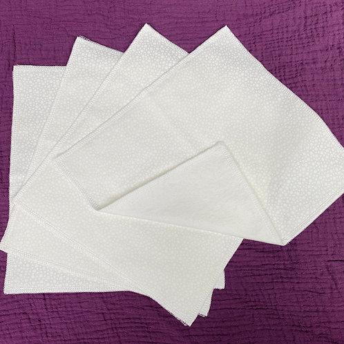White Dots (on white)Unpaper Towels (4)