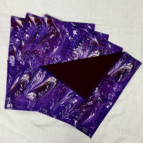 Purple Twist (on Eggplant) Unpaper Towels (4)