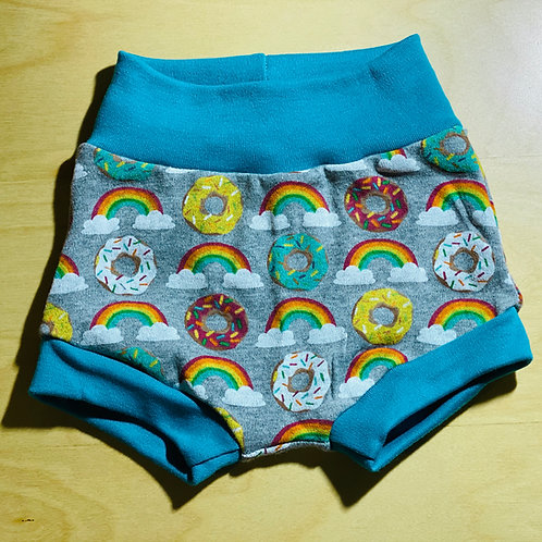 3 Months Bummies Shorts -Rainbow Donuts