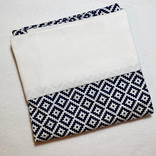 Navy Diamond Cotton Pillowcase (Main)