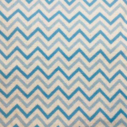 Flannel Blue Chevron