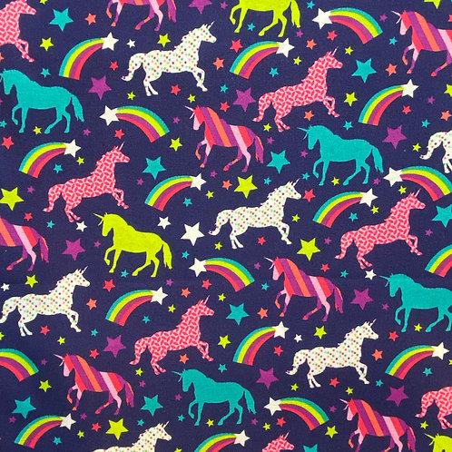 Unicorn Rainbows on Purple