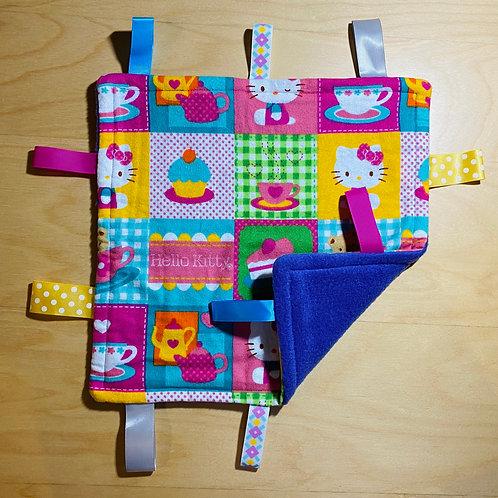 Hello Kitty Flannel Taggie (Purple Fleece Back)