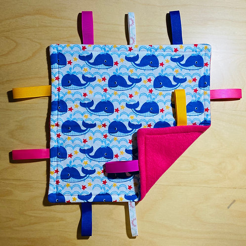 Whales Taggie (Pink Back)