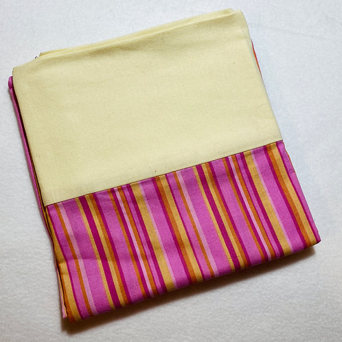Pink & Yellow Stripe Pillowcase