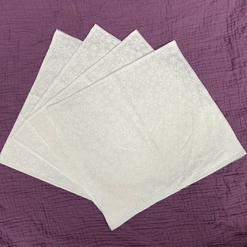 White Snow (on white)Unpaper Towels (4)