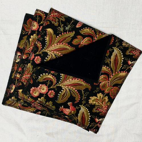 Gilded Breakfast Nook (on Black) Unpaper Towels (4)