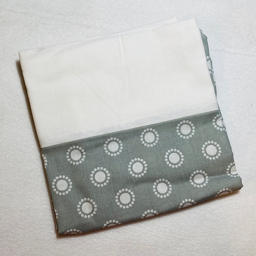 Gray Circles Cotton Pillowcase