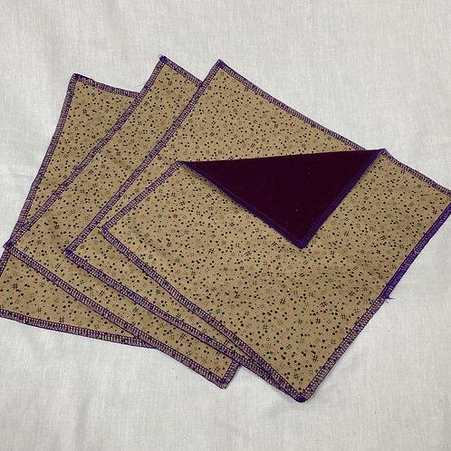 Mini TicTacToe Boards (on Eggplant) Unpaper Towels (4)