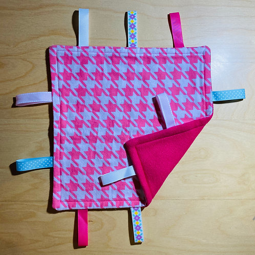 Pink Patterned Flannel Taggie