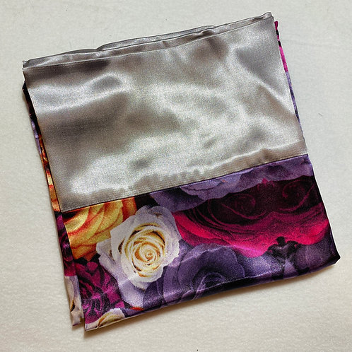 Purple Flowers Satin Pillowcase