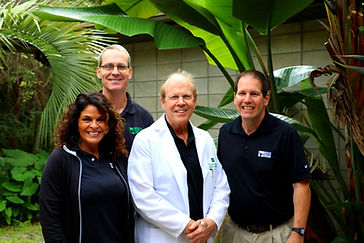 The staff at Medical Exercise Associates, located in Daytona Beach, Florida, prides themselves on providing a friendly, welcoming environment.  Our team of experts is committed to providing unsurpassed medical care for our patients and their families.  This is a picture of some of our staff members outside of one of our buildings.
