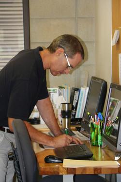 Andy, hard at work