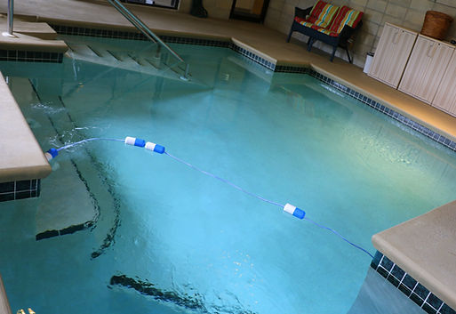 Medical Exercise Associates' indoor water therapy pool. Water therapy is especially helpful in cases where a machine-based exercise program is not appropriate due to deconditioning, intense pain, or other contributing factors.  Post-operative patients may also benefit from our water therapy programs.