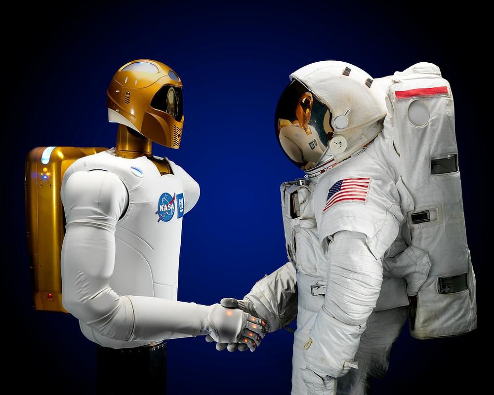 Astronaut Robotnaut Handshake