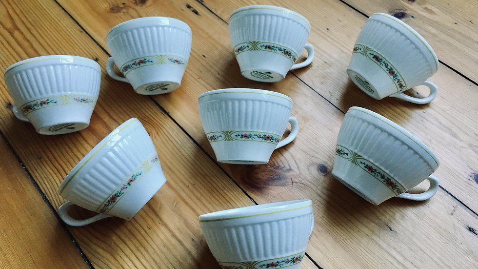 Wedgwood Insignia bone china cups x 8