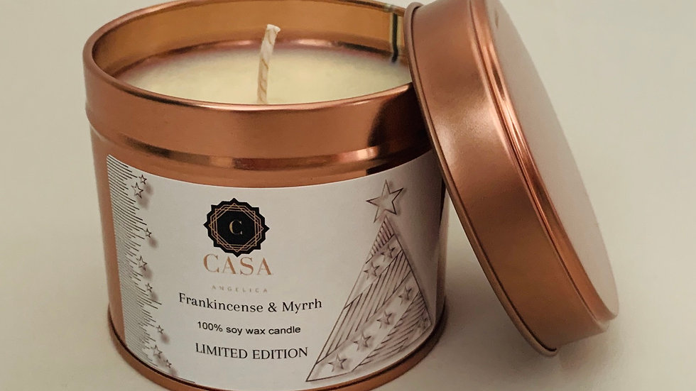 Limited edition soy wax candle Frankincense and Myrrh