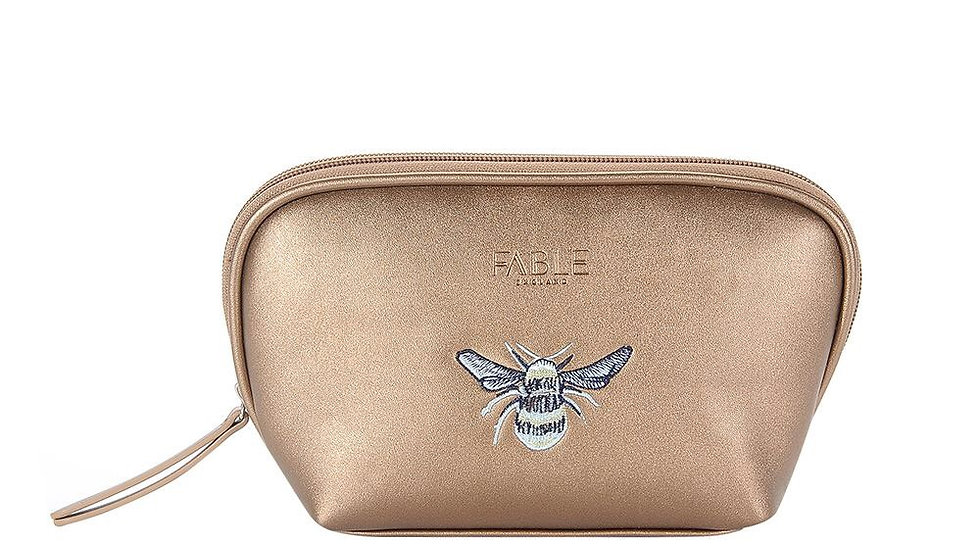 Fable Bee Make up bag in bronze