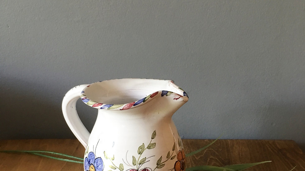 Pretty hand painted vintage jug
