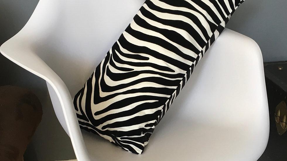 Textured zebra cushion