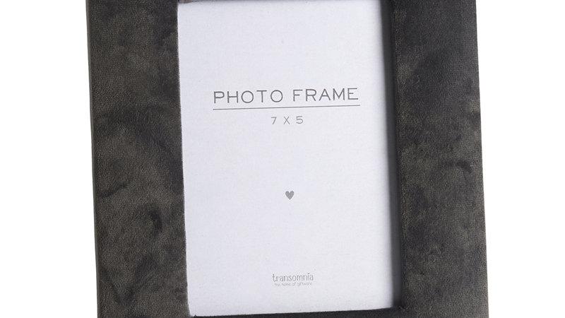 Grey velvet photo frame (for 7x5 print)
