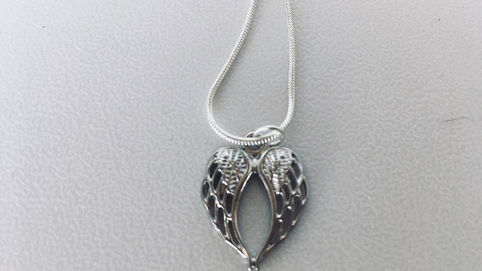 """Angel wing pendant necklace 18"""""""