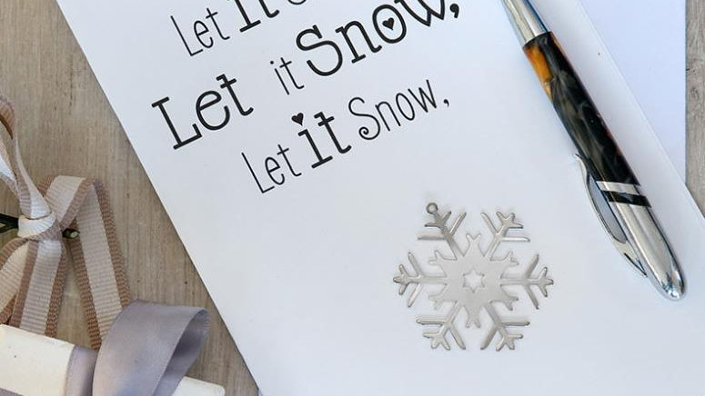 Let it snow - card and decoration