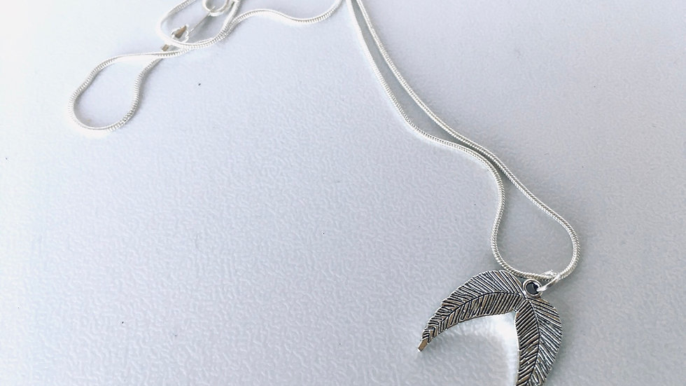 """Angel feather pendant necklace  18"""""""