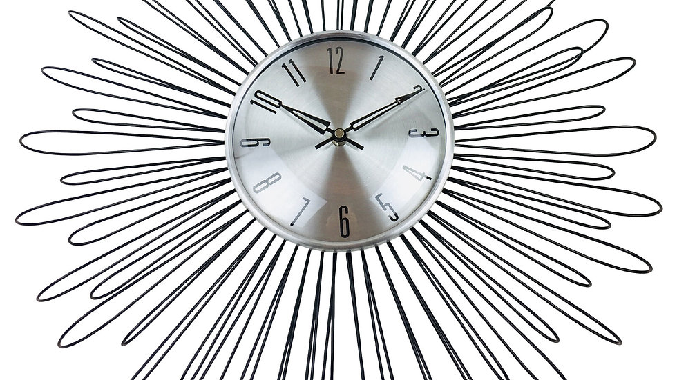 Looping Wire Design Metal Wall Clock