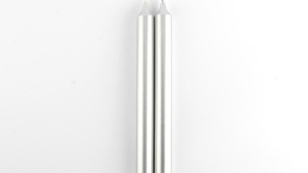 Metallic Dinner Candles