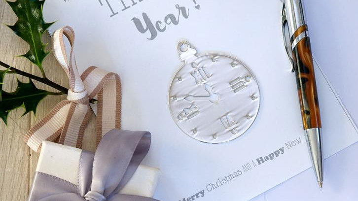 The most wonderful time - card and decoration