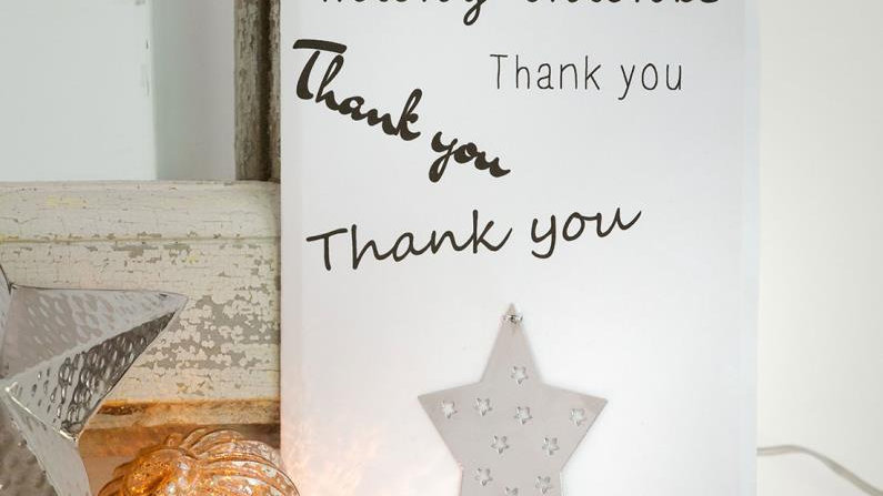 Thank You Card and Decoration