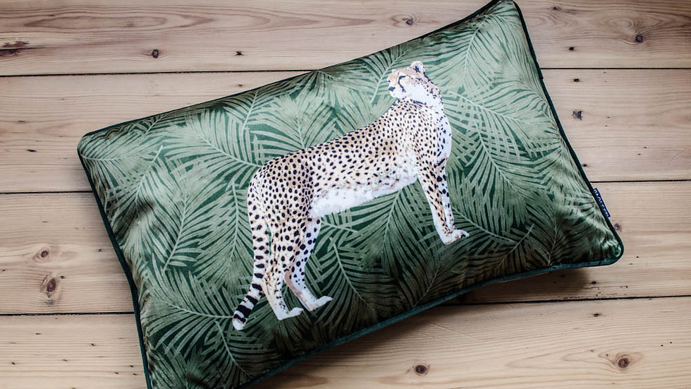 Forest Cheetah Cushion