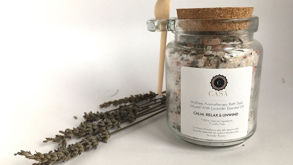 Wellness Aromatherapy Bath Salts - Calm, Relax, Unwind - Lavender