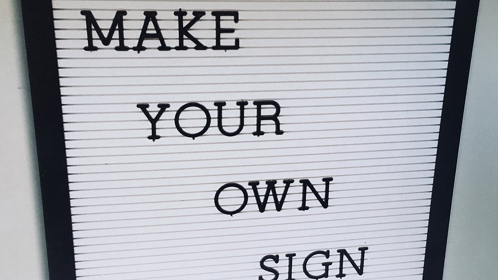 Make your own sign retro peg board