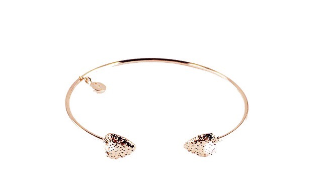 Fable strawberry design rose gold bangle