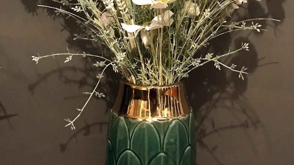 Art Deco Vase Green