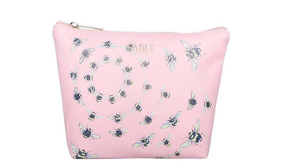 Fable - pink bee make up bag