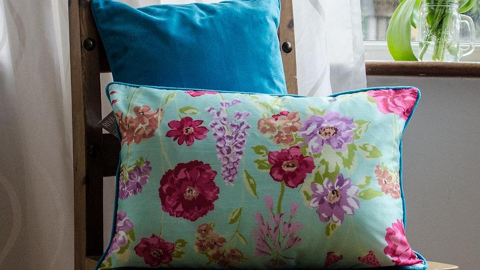 Kew floral cushion