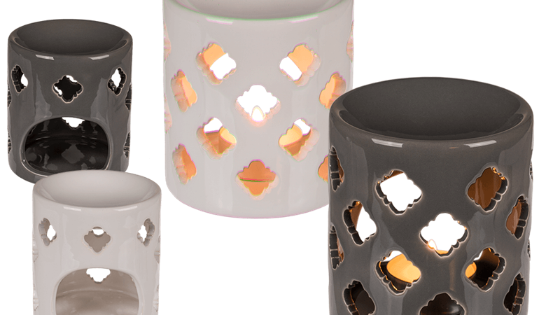 Lattice wax burner