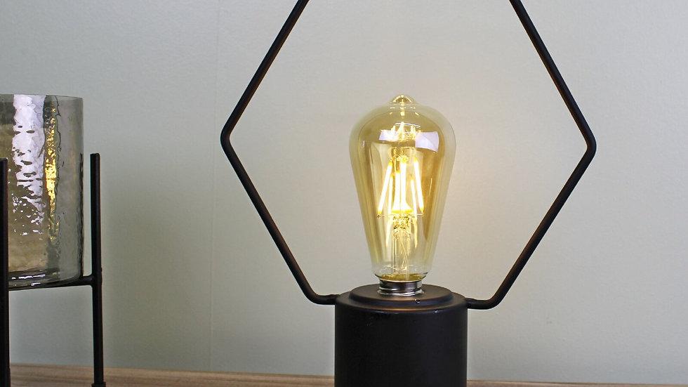 Free Standing Hexagonal Wire Lamp