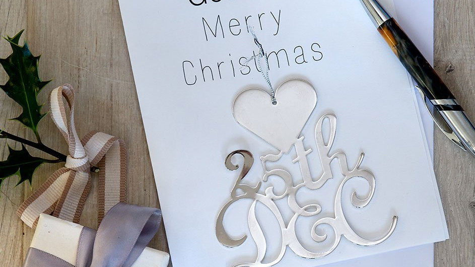 Joyeux Noel - Card with keepsake decoration